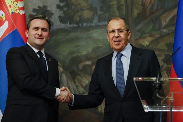 Nikola Selakovic i Sergej Lavrov