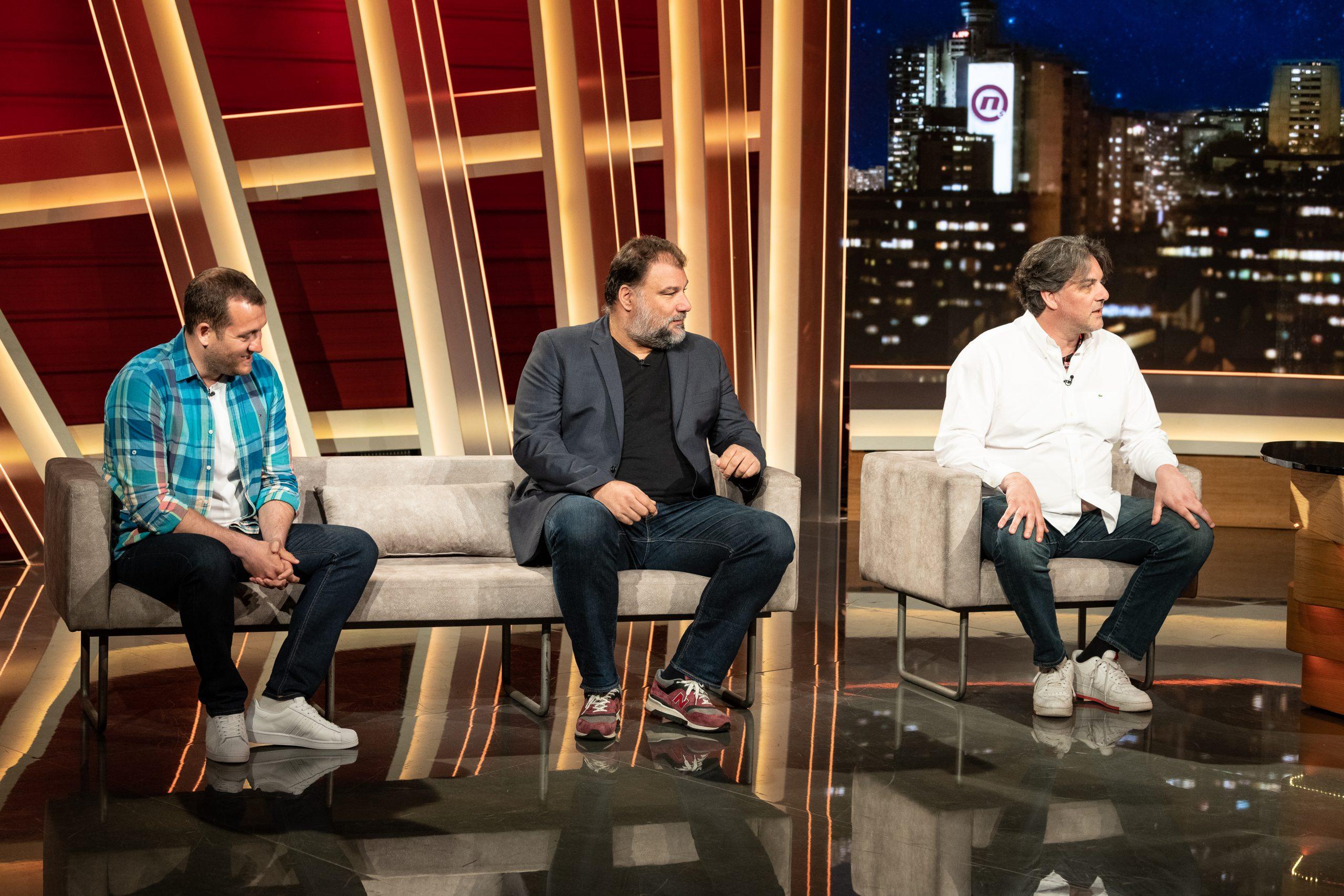 Uros Stevanovic, Jugoslav Vasovic i Dejan Savic u emisiji Vece sa Ivanom Ivanovicem