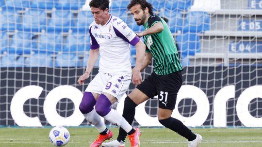 Dušan Vlahović na utakmici protiv Sasuola