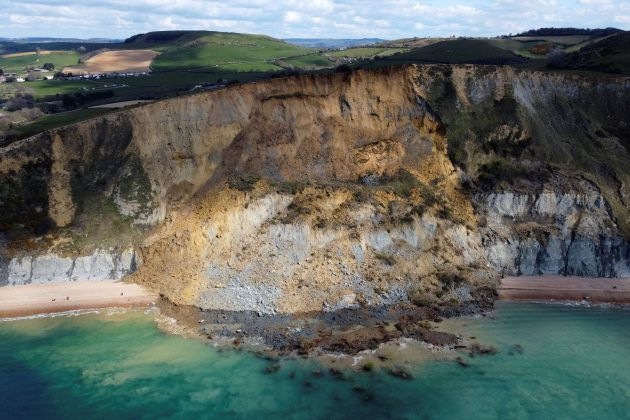 Dorset, litica, odron