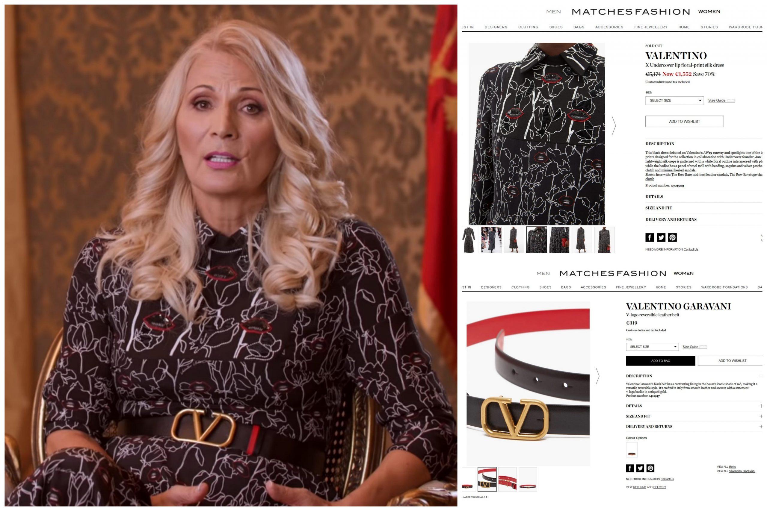 Lidija Đukanović, Lidija Djukanović, haljina, kaiš, Valentino, moda