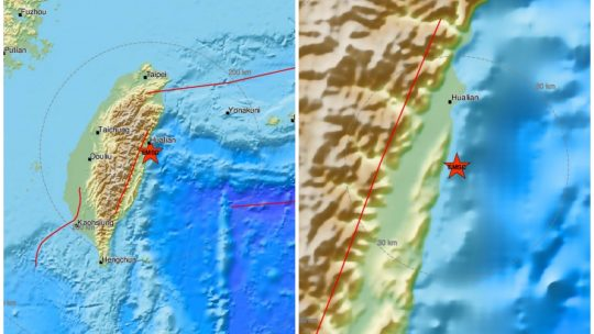 Zemljotres, Tajvan