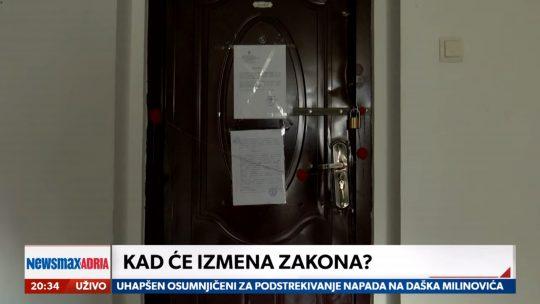 Iseljenje Gojka Lalović, prilog, emisija Pregled dana