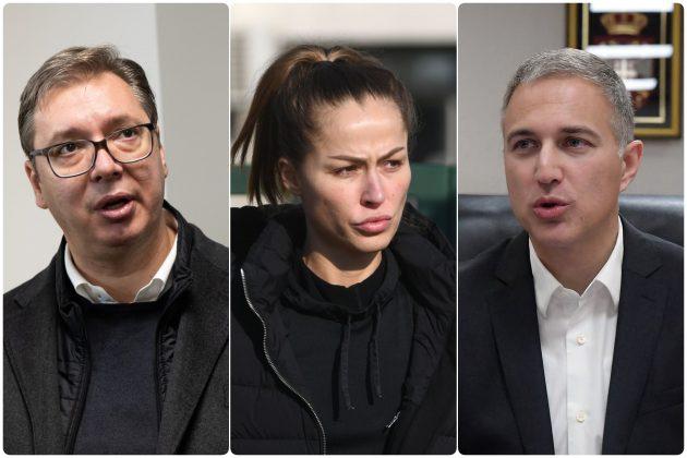 Aleksandar Vucic Dijana Hrkalovic i Nebojsa Stefanovic