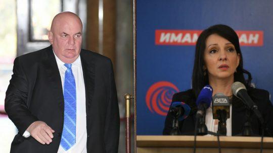 Dragan Marković Palma i Marinika Tepić. Foto: Nova.rs