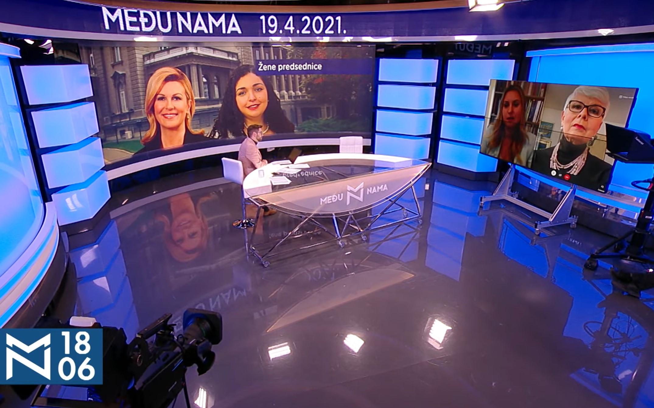 medju nama, . tema - Žene predsednice- gošće Aleksandra Jerkov, Jadranka Kosos