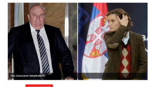 Ana Brnabić, Dragan Marković Palma, Bunga Bunga žurke, žurka