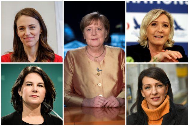 Džasinda Ardern, Angela Merkel, Mari Le Pen, Analena Berbok, Marinika Tepić