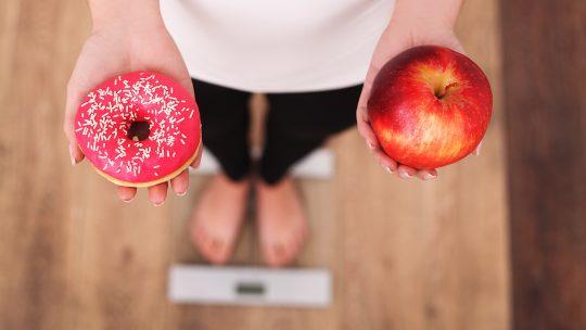 Dijeta, krofna, jabuka