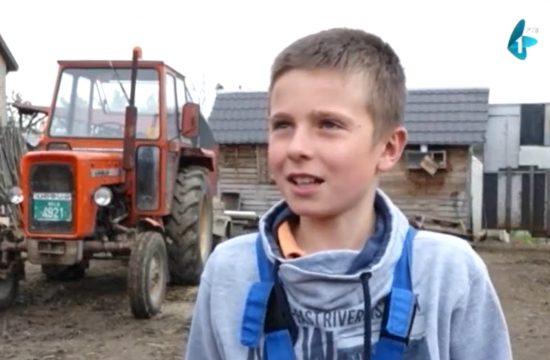 Nikola Vučković Dvanaestogodišnji poljoprivrednik iz mesta Jarkovci