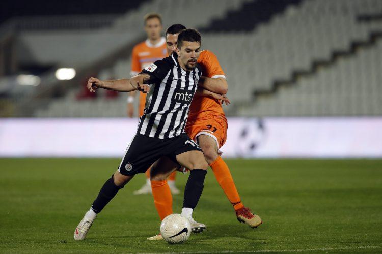 Lazar Pavlović posle gola i pobede Partizana nad Spartakom