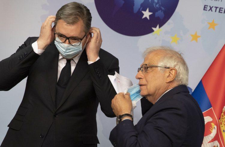 Aleksandar Vucic i Zozep Borelj
