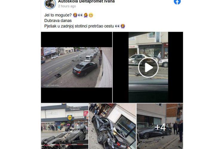 Zagreb nesreca pesaci