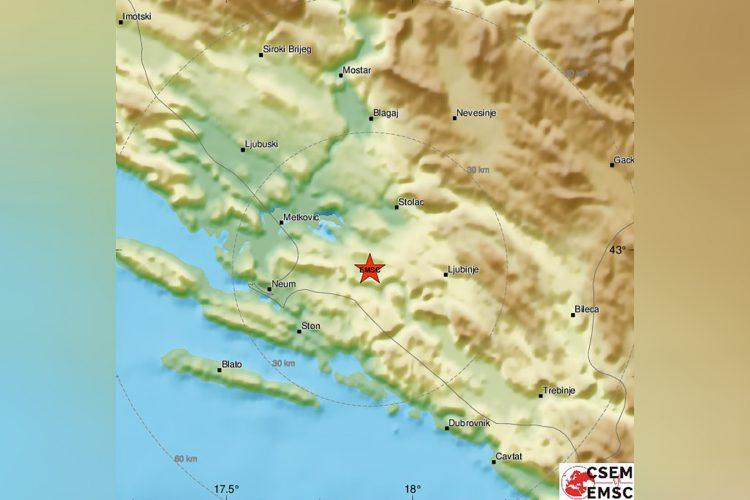 Zemljotres, Bosna i Hercegovina