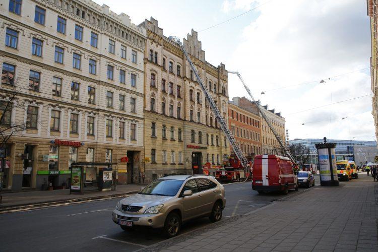 Letonija Riga pozar