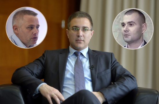 Nebojša Stefanović i kružići Goran Papić i Igor Jurić