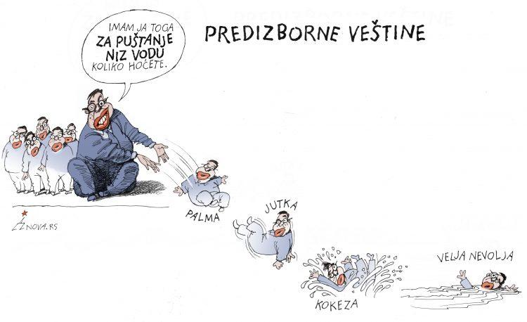 Karikatura Dušan Petričić, predizborne vestine