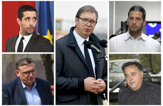 Vučić veći i Toma Momirović, Zoran Drobnjak, Vanja Udovičić, Zoran Babić