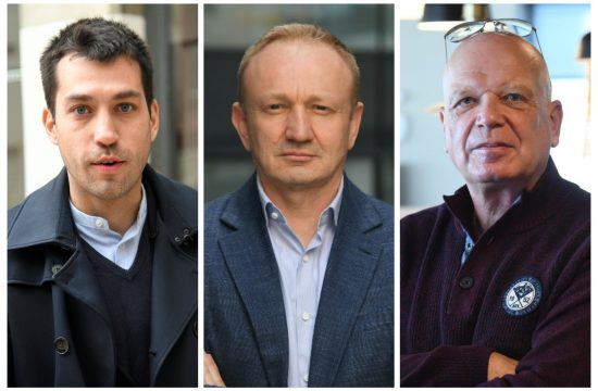 Milan St. Protić, Dragan Đilas i Dobrica Veselinović