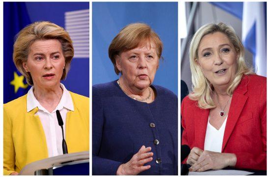 Ursula, Merkel i Marin Le Pen