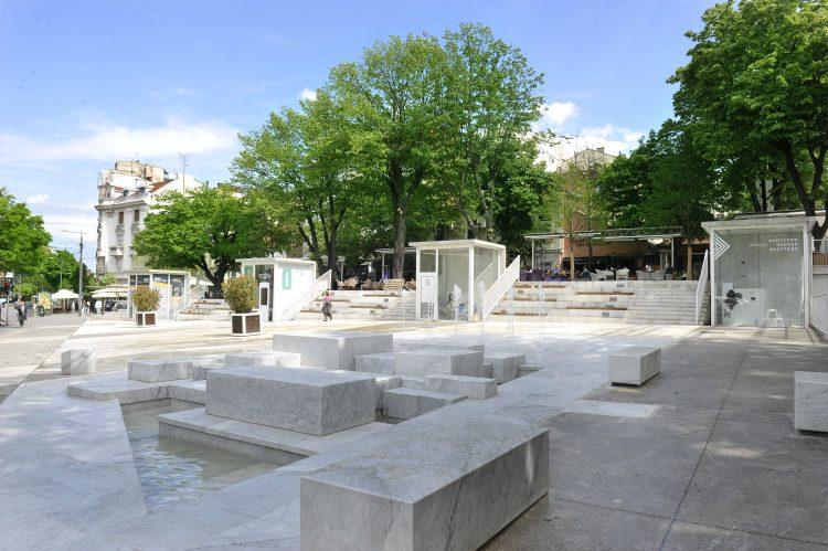 Cvetni trg, fontana