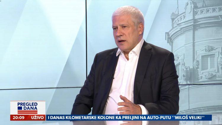 Boris Tadić, gost, emisija Pregled dana