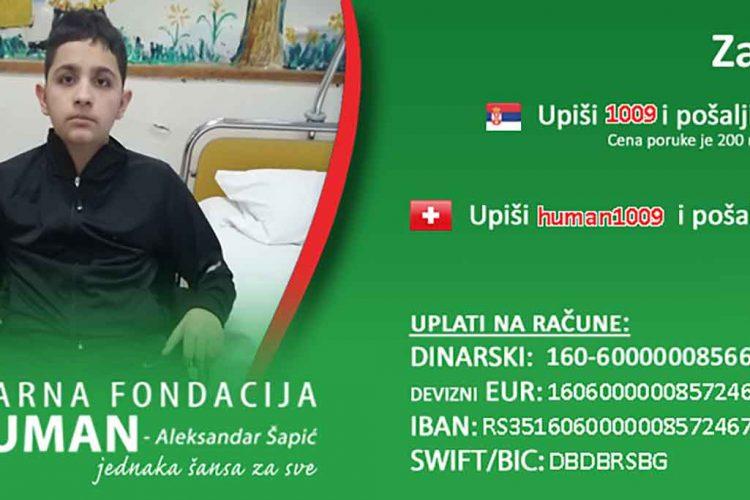 Lazar Ristić, humanitarna pomoć