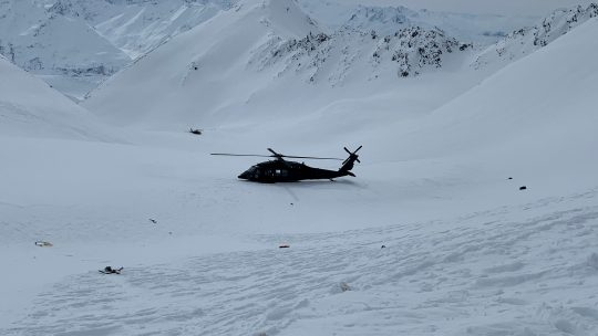 helikopter olupins nesreca aljaska