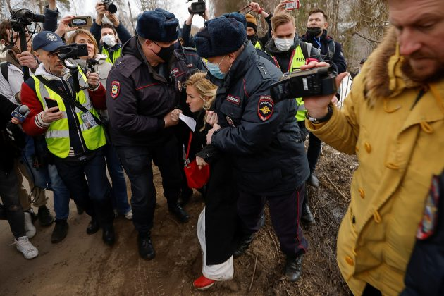 Aleksej Navaljni hapsenje pristalice