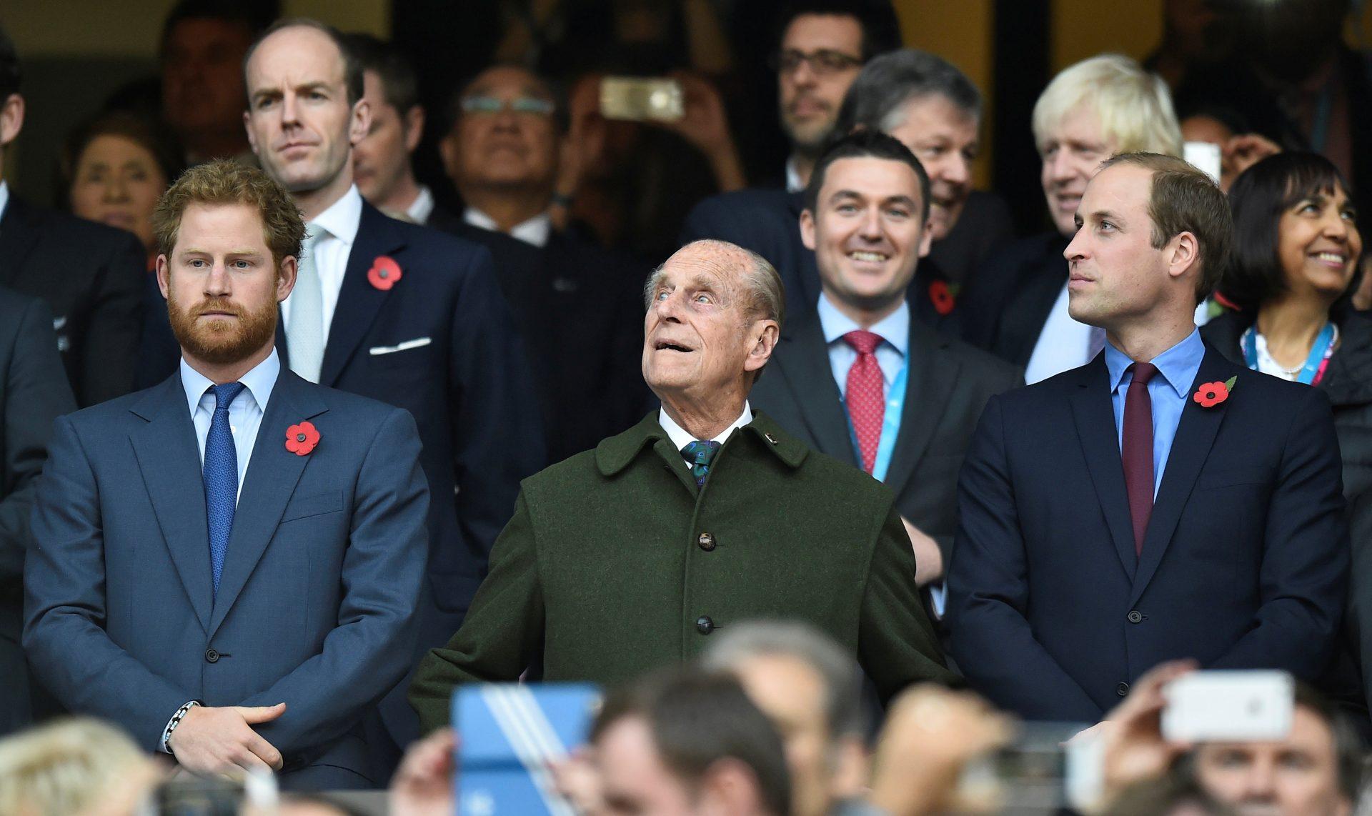 Princ Vilijam, princ Filip i princ Hari