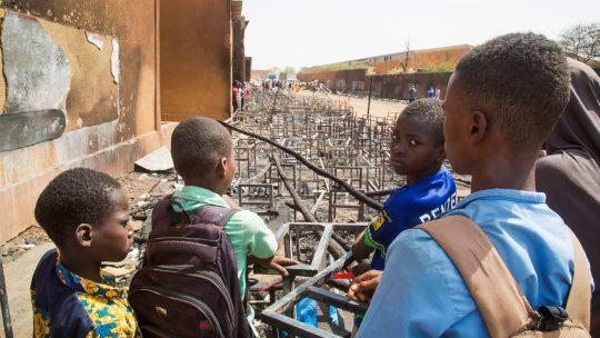 Pozar u osnovnoj skoli u Nigeru