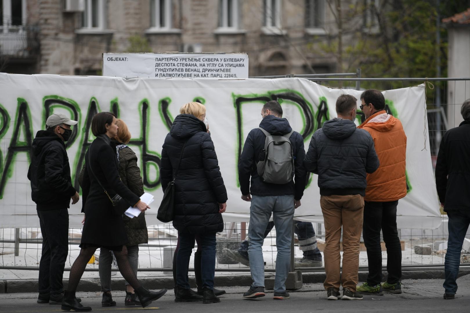 Despota Stefana, ulica, radovi, protest, Ne davimo Beograd