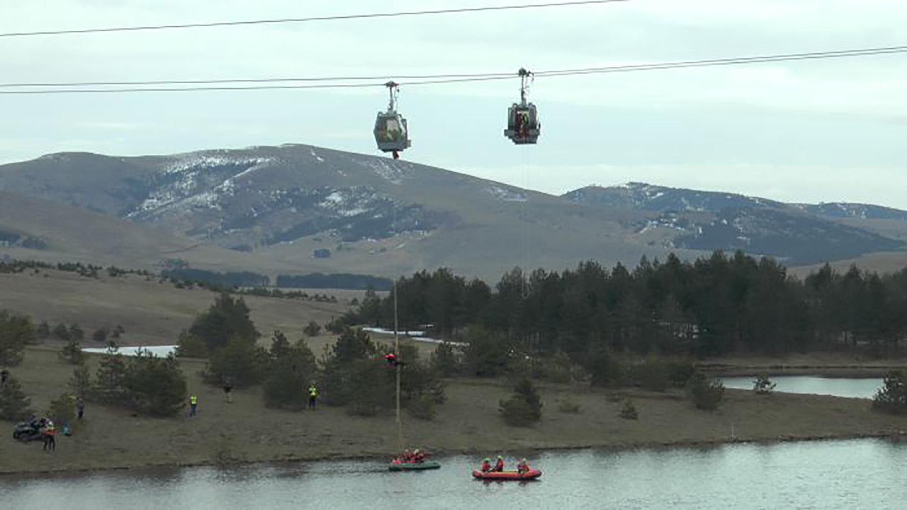 Zlatiborska gondola: Gorska služba izvela vežbu evakuacije