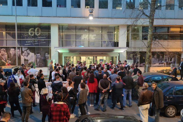 Antivakseri, protest, zgrada RTS