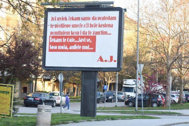 Novi Sad, bilbord, poruka