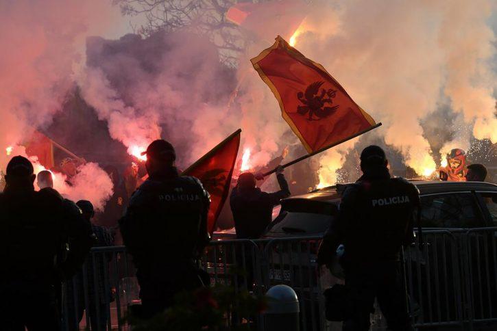 Protest u Crnoj Gori. Foto: Savo Prelević/Nova.rs