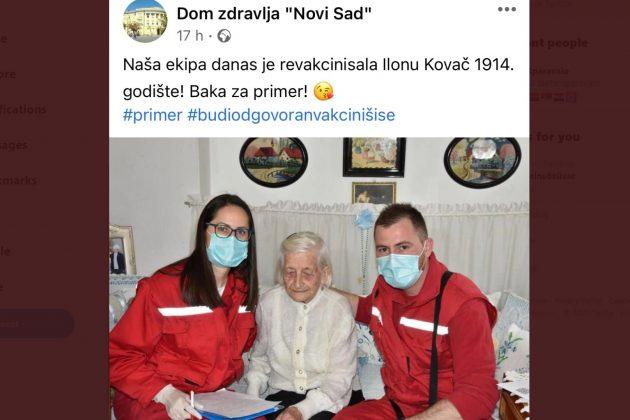 Ilona Kovač, vakcinisana baka