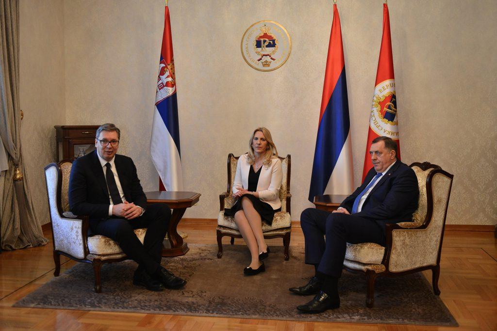 Aleksandar Vucic Zeljka Cvijanovic i Milorad Dodik