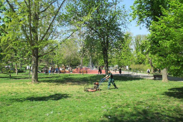 Zelenilo uredjenje park sisianje trave