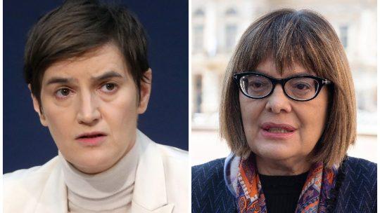 Ana Brnabić i Maja Gojković