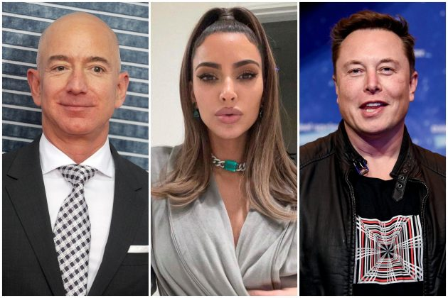 Džef Bezos, Kim Kardašijan, Ilon Mask