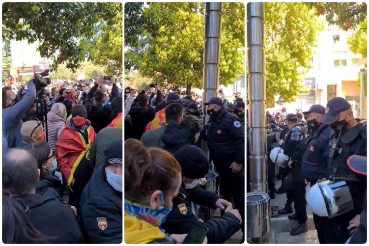 protest ispred zgrade vlade crne gora