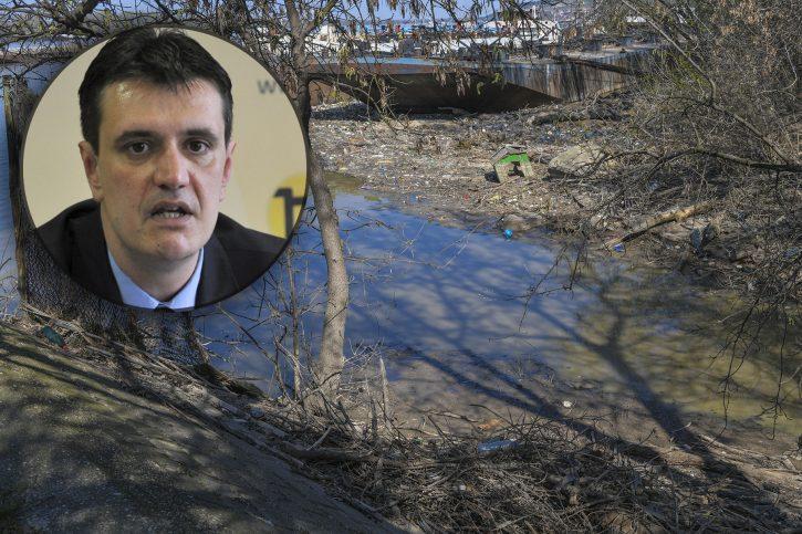 Vladimir Cvijan i mesto gde je pronadjen les