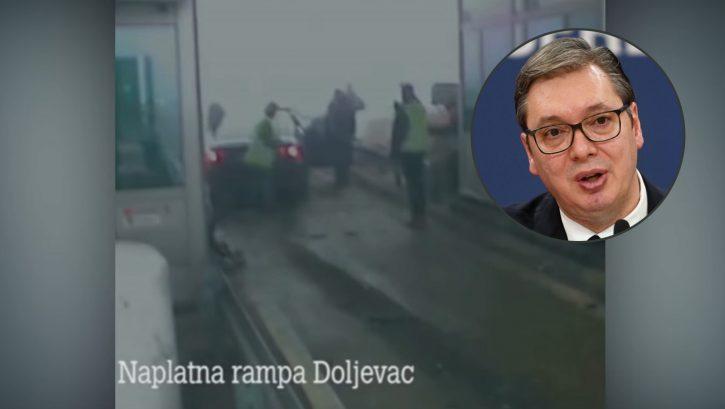 Doljevac, naplatna rampa, nesreća, Aleksandar Vučić
