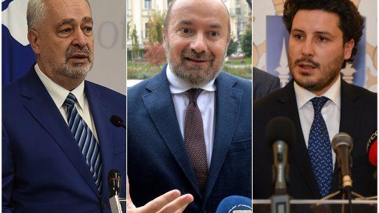Zdravko Krivokapic, Vladimir Pavicevic i Dritan Abazovic