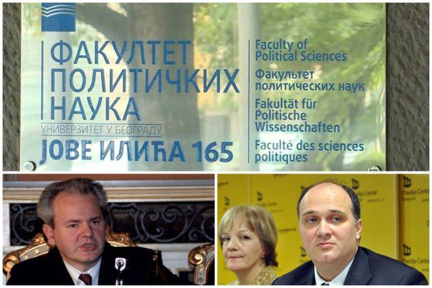 Fakultet političkih nauka, FPN, Slobodan Milošević, Uroš Šuvaković