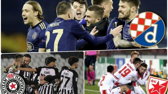 Dinamo Zagreb, Partizan, Crvena zvezda