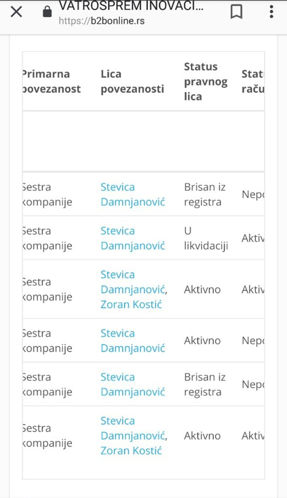 Milan Petrić, Gradska čistoća, dokumenta, dokument