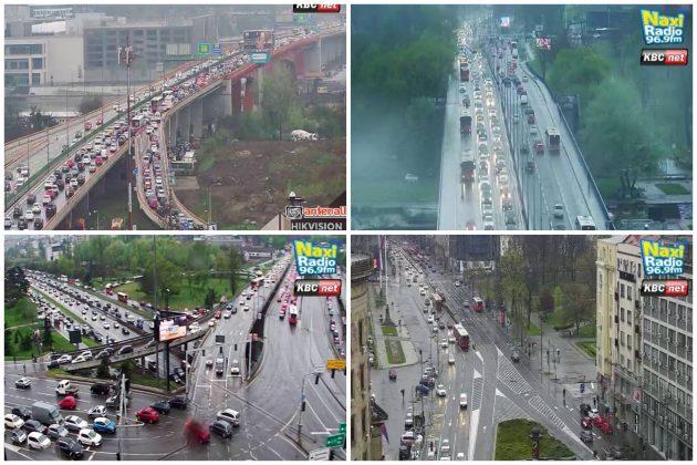 Gužva, Gazela, Brankov most, Autokomanda, Trg Nikole Pašića