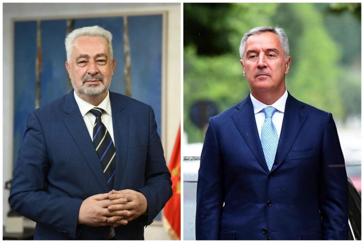Zdravko Krivokapić i Milo Đukanović